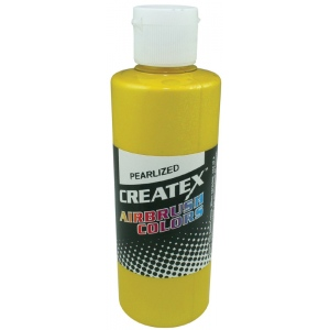 Createx™ Airbrush Paint 4oz Pearlescent Pineapple; Color: Yellow; Format: Bottle; Size: 4 oz; Type: Airbrush; (model 5311-04), price per each