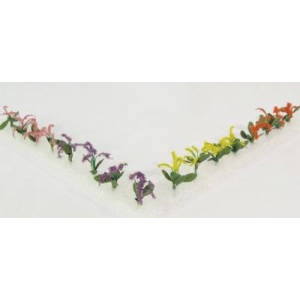 """Wee Scapes™ Architectural Model Petunias; Color: Multi; Coverage: 150 sq in; Material: Poly Fiber, Turf; Quantity: 12-Pack; Size: 3/8""""; Type: Flowers; (model WS00304), price per 12-Pack"""