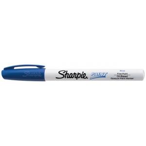 Sharpie® Oil Paint Marker Fine Blue; Color: Blue; Ink Type: Paint; Tip Type: Fine Nib; (model SN35536), price per each