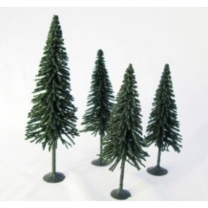 "Wee Scapes™ Architectural Model Pine Trees 4-Pack; Color: Green; Material: Wire; Quantity: 4-Pack; Size: 3 1/2"" - 5""; Type: Tree; (model WS00327), price per 4-Pack"