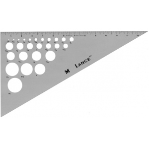"Lance® 14"" Aluminum Triangle 30/60; Angle: 30/60; Color: Clear; Material: Aluminum; Size: 14""; Type: Triangle; (model TR3060-14), price per each"