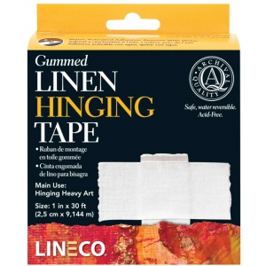 "Lineco Archival Material: Water-Activated Gummed Linen Tape, 1"" x 360"""