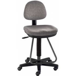 "Alvin® Viceroy Artist/Drafting Medium Gray Chair; Arm Rest Included: No; Color: Black/Gray; Foot Ring Included: Yes; Height Range: 24"" - 29"", 30"" & Up, Under 24""; Seat Material: Fabric; (model DC999-60), price per each"
