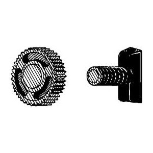 Alvin® Replacement Nut and T-Bolt Assembly: Replacement Part, Compass/Divider, (model SB/R), price per dozen (12-pack)