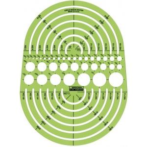 "Rapidesign® Circle Radius Master Template; Scale: 3/64"" - 7 1/2""; (model 142R), price per each"