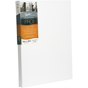 """Fredrix® PRO Dixie 40 x 60 Stretched Canvas Gallerywrap Bar 1-3/8"""": White/Ivory, Sheet, 1 3/8"""", Cotton, 1 3/8"""", 40"""" x 60"""", Stretched, (model T49124), price per each"""