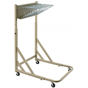 Alvin® Mobile Pivot Rack for Blueprints; Capacity: 12 Hanging Clamps; Color: Brown; Material: Steel; (model BPR026), price per each