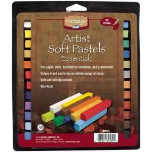 Heritage Arts™ Artist Grade Soft Essential 24-Color Pastel Set: Multi, Stick, Soft, (model ASP24), price per set