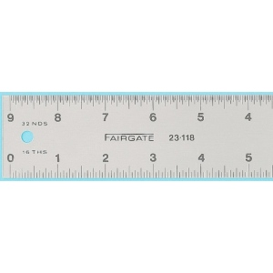"""Fairgate® 18"""" Eluxite Aluminum Centering Ruler; Color: Metallic; Material: Aluminum; Size: 18""""; Type: Gauge; (model RC18), price per each"""