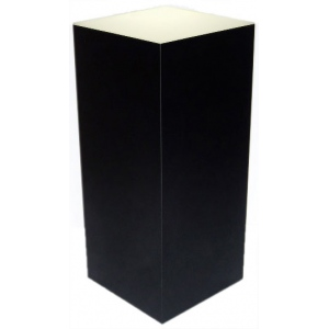 "Xylem Lighted Black Laminate Pedestal: 18"" x 18"" Base, 12"" Height"