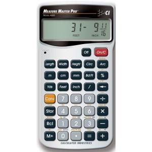 Calculated Industries® Measure Master® Pro Calculator; Type: Calculator; (model CA223), price per each