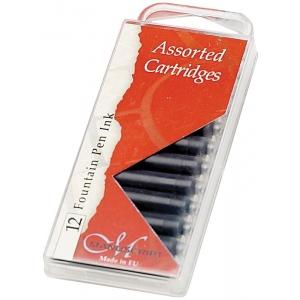 Manuscript Ink Cartridge Black: Black/Gray, Fountain, Refill, (model MC0461BL), price per pack