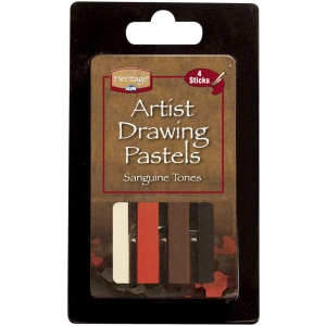 Heritage Arts™ Sketching Tones Artist Drawing Pastel Set: Multi, Stick, Drawing, (model ADP4AS), price per pack