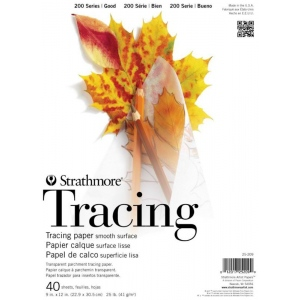 "Strathmore 200 Series Tape Bound Tracing Pad: 11"" x 14"", 25 lb., 40-Sheets"