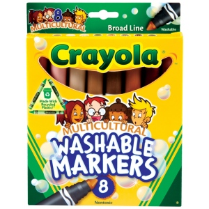 Crayola® Washable Multi-Cultural Marker Set; Color: Multi; Type: Washable; (model 58-7801), price per set