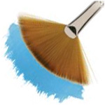 Winsor & Newton™ Cotman™ Series 888 Fan Short Handle Brush #2; Length: Short Handle; Material: Synthetic; Shape: Fan; Type: Watercolor; (model WN5388002), price per each