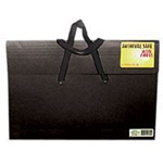 "Star® Sable Portfolio 17"" x 22""; Color: Black/Gray; Gusset Size: 2""; Material: Sable; Size: 17"" x 22""; (model S22H-BLK), price per each"