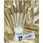 Permalba Beginner Oil Brush White Bristle: Set of 7