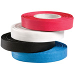 "Generic Reinforced Edge-Binding Black Tape; Color: Black/Gray; Material: PVC; Size: 1/2"" x 80'; Type: Binding; Width: 1/2""; (model 121BK), price per box"