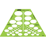"Rapidesign® Isometric Ellipses Template; Scale: 1/8"" - 1 9/16""; (model 123R), price per each"