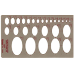 "Pickett® Isometric Ellipse Template: 1/8"" - 2"", (model 1264I), price per each"