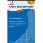 "Alvin® Cross Section Paper 10"" x 10"" Grid 50-Sheet Pad 11"" x 17"": Pad, 10"" x 10"", 50 Sheets, 11"" x 17"", Drawing, 20 lb, (model 1422-10), price per 50 Sheets pad"