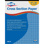 "Alvin® Cross Section Paper 10"" x 10"" Grid 50-Sheet Pad 17"" x 22""; Format: Pad; Grid Size/Pattern: 10"" x 10""; Quantity: 500 Sheets; Size: 17"" x 22""; Type: Drawing; Weight: 20 lb; (model 1422-15), price per 500 Sheets pad"