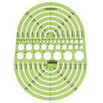 "Rapidesign® Circle Radius Master Template; Scale: 3/64"" - 7 1/2""; (model 142R), price per each"