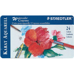 Staedtler® Karat Aquarell Watercolor Crayon 24-Color Set: Watercolor, (model 223M24), price per set