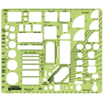 "Rapidesign® House Plan Fixtures Template; Scale: 1/2"" = 1'; (model 22RB), price per each"