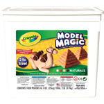 Crayola® Model Magic® Resalable Bucket 2lb Natural; Color: Brown; Size: 8 oz; Type: Craft; (model 23-2412), price per each