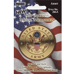 "Pioneer® Self-Adhesive Metal Military Medallion Army; Color: Multi; Size: 2""; Type: Dimensional; (model 2M-A), price per each"