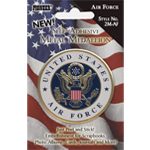 "Pioneer® Self-Adhesive Metal Military Medallion Air Force; Color: Multi; Size: 2""; Type: Dimensional; (model 2M-AF), price per each"