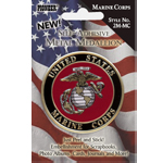 "Pioneer® Self-Adhesive Metal Military Medallion Marine Corps; Color: Multi; Size: 2""; Type: Dimensional; (model 2M-MC), price per each"