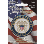 "Pioneer® Self-Adhesive Metal Military Medallion Navy : Multi, 2"", Dimensional, (model 2M-N), price per each"
