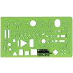 "Rapidesign® Electrical/Electronic Template; Size: 5"" x 8 1/4"" x .060""; Type: Electric/Electronic; (model 315R), price per each"
