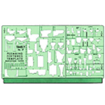 "Timely® Plumbing – Elevation View Template: 1/2"", 1/4"" = 1', 1/8"", (model 37T), price per each"
