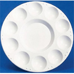"Richeson 10 Well Round Tray; Color: White/Ivory; Material: Plastic; Quantity: 10 Wells; Shape: Round; Size: 7 1/2""; (model 400201), price per each"