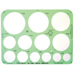 """Timely® Circle Template; Scale: 1 1/4"""" - 3 1/2""""; (model 404T), price per each"""