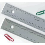 "Alumicolor® 18"" Aluminum Ruler: Metallic, Aluminum, 18"", Ruler, (model 4241-1), price per each"