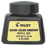 Pilot®  Super Color Black Refill Ink; Color: Black/Gray; Refill: Yes; (model 43500), price per each