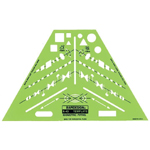"Rapidesign® Isometric Piping Template; Size: 5 3/16"" x 8 1/2"" x .030""; Type: Mechanical; (model 43R), price per each"