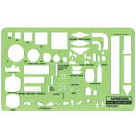 "Rapidesign® Process Template; Size: 5"" x 8 3/16"" x .030""; Type: Mechanical; (model 44R), price per each"