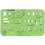 "Rapidesign® Instrument Symbols Template: 5"" x 8"" x .030"", Mechanical, (model 47R), price per each"