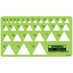 "Rapidesign® Triangle & Diamonds Template; Scale: 3/32"" - 1 3/8""; (model 51R), price per each"