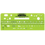 "Rapidesign® Dimensioning & Tolerance Template; Size: 2 3/4"" x 7"" x .030""; Type: Mechanical; (model 52R), price per each"