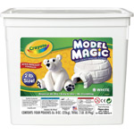 Crayola® Model Magic® Resalable Bucket 2lb White: White/Ivory, 8 oz, Craft, (model 57-4400), price per each