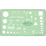 """Timely® Circuit Aid Template; Size: 4 1/2"""" x 7 3/4"""" x .020""""; Type: Mechanical; (model 61T), price per each"""