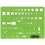 "Rapidesign® Power and Light Template; Size: 5 1/2"" x 7 1/2"" x .030""; Type: Electric/Electronic; (model 62R), price per each"