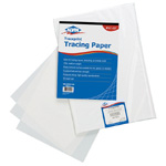 "Alvin® Traceprint Tracing Paper 100-Sheet Pad 8-1/2"" x 11""; Binding: Fold Over; Color: White/Ivory; Format: Pad; Quantity: 100 Sheets; Size: 8 1/2"" x 11""; Type: Tracing; Weight: 17 lb; (model 6811-S-1), price per 100 Sheets"